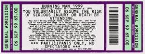 bman ticket 1999
