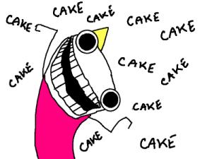 h&half cake