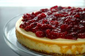 white choc cranberry cheesecake