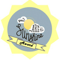 sunshine blogger award badge